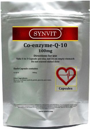 SYNVIT® Co Enzyme Q10 CoQ10 100mg Capsules